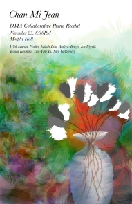 Chan Mi's recital poster