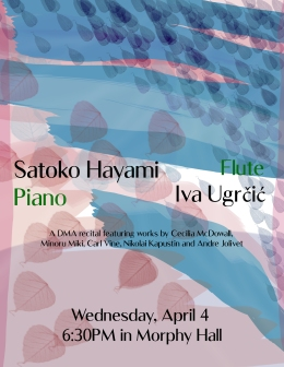 Satoko recital poster 2